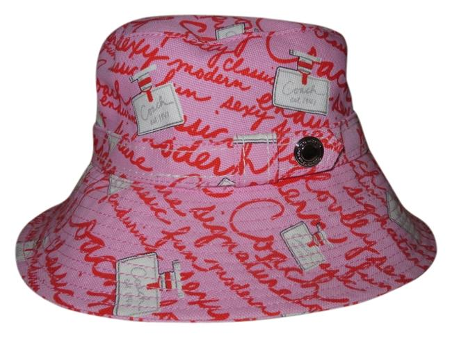 Item - Pink and Red Signature Perfume Bottle Hat