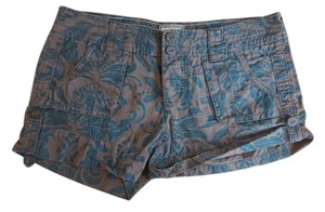 American Eagle Outfitters Utility Paisley Jacobean Shorts Teal/Olive
