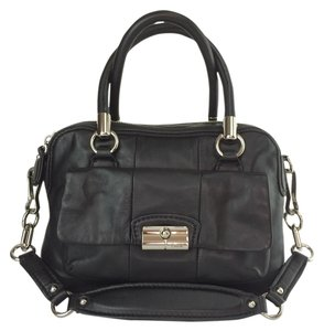 Coach Kristin 14782 Leather Satchel in Black