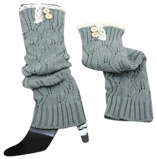 Preload https://img-static.tradesy.com/item/6242851/gray-and-beige-sweater-knitted-lace-top-button-down-leg-warmer-boot-boot-topper-socks-0-1-540-540.jpg