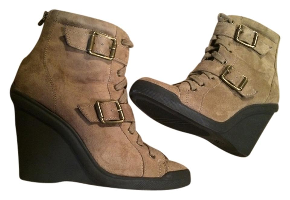 Vera Wang Buckled Beige Buckled Wang Ankle Sz. Boots/Booties b7102f