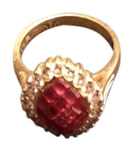 18k diamond and ruby -18k solid gold diamond ruby