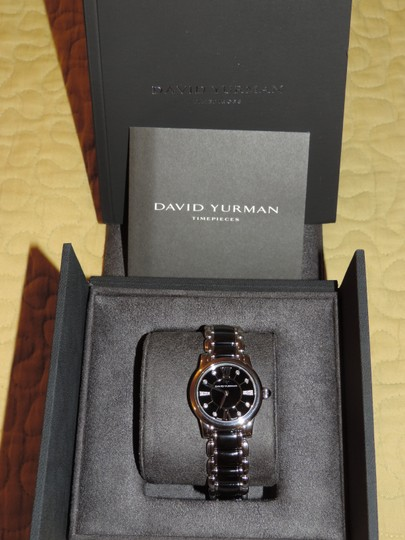 David Yurman David Yurman Black Ceramic with Diamond Pavemarkers EXCELLENT