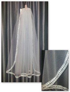 Ribbon Edged Veil
