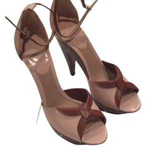 Giorgio Armani Tan and brown Platforms