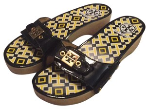 Tory Burch Black & Gold Sandals