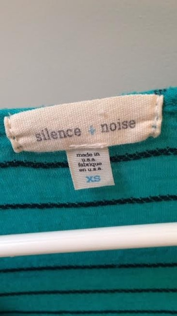 Silence + Noise Green Top Teal