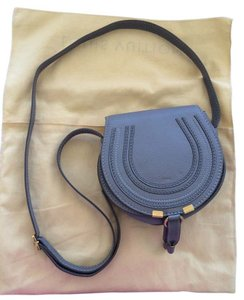Chloé Chloe Marcie Designer Grey Small Mini Cashmere Cross Body Bag