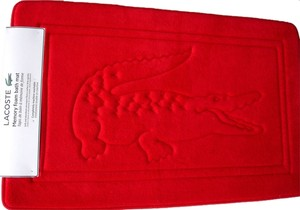 Lacoste NWT LACOSTE MEMORY FOAM BATH MAT RED NWT BATHMAT FOOT