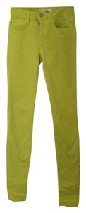 JOE'S Jeans Color Yellow Green Skinny Jeans