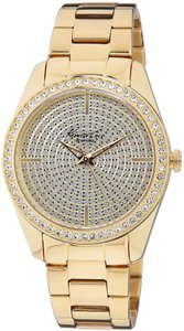 Kenneth Cole Kenneth Cole New York Women's Crystal-Accented Gold-Tone Watch