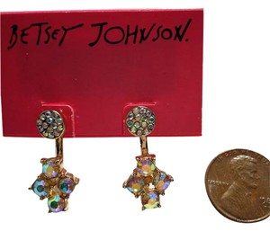 Betsey Johnson NWT Betsey Johnson Stud Earrings 2 in 1 MULTICOLOR INTERCHANGABLE