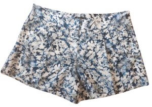 Theory Mini/Short Shorts Blue White Flowers