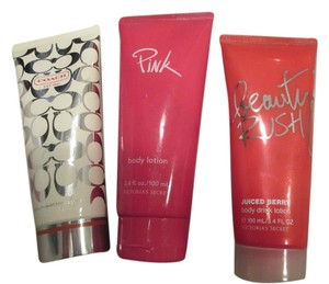 lot Coach Victoria secret Lot of 3 Coach and Victoria secret Pink 3.4 each perfume lotions full size