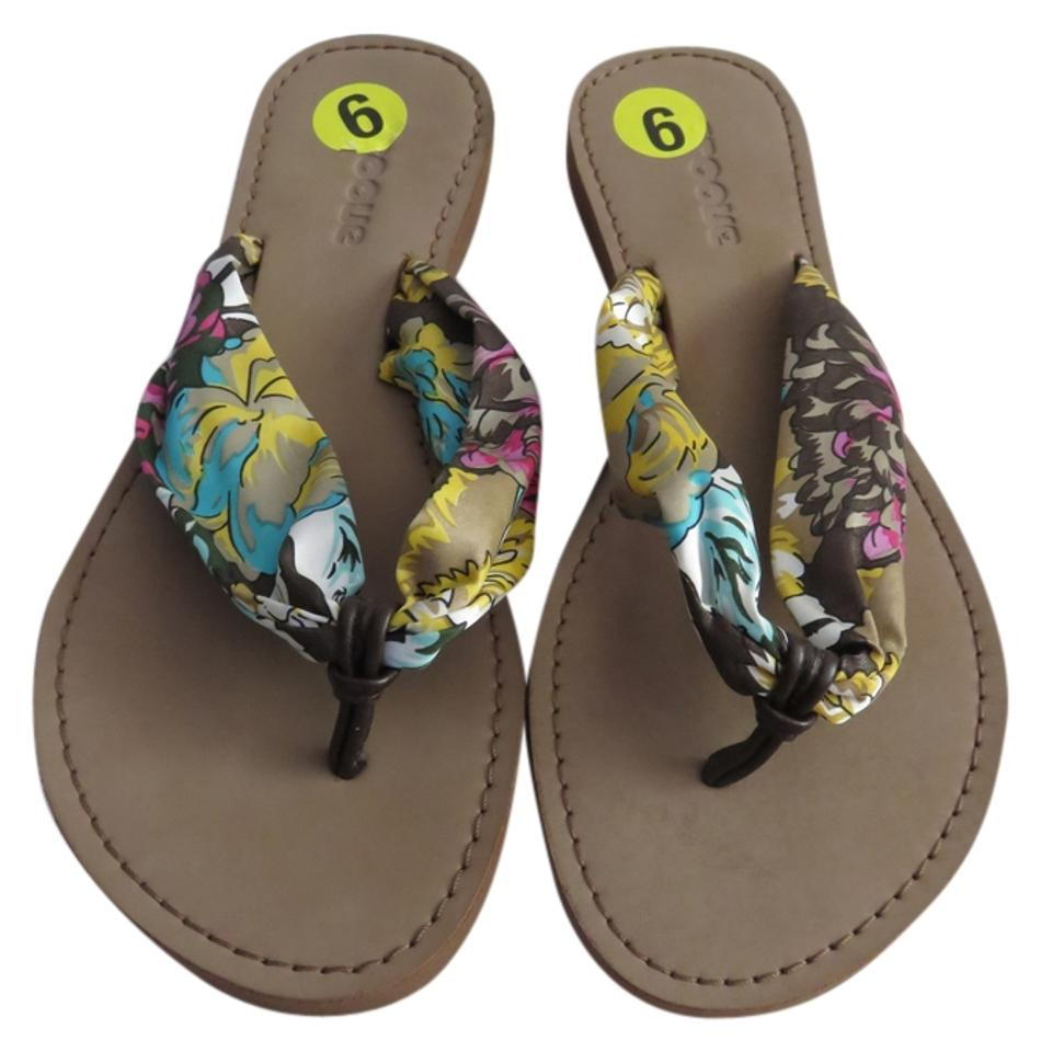 00fe7c081 Groove Multicolor New Women s Satin Floral Strap Flip Flops Sandals ...