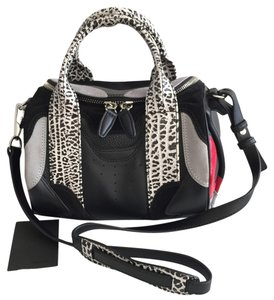 Alexander Wang Rockie Studded Satchel in Black/Red/White/Gray