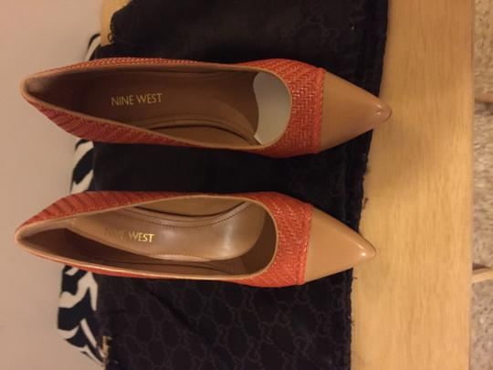 Nine West Orange/tan Pumps