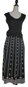 White House | Black Market Skirt Black with White Beads