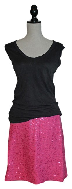Preload https://img-static.tradesy.com/item/6245824/ann-taylor-loft-pink-with-sequins-sparkly-knee-length-skirt-size-8-m-29-30-0-0-650-650.jpg