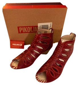 PIKOLINOS Shooties Red Leather Fall Sandia Boots