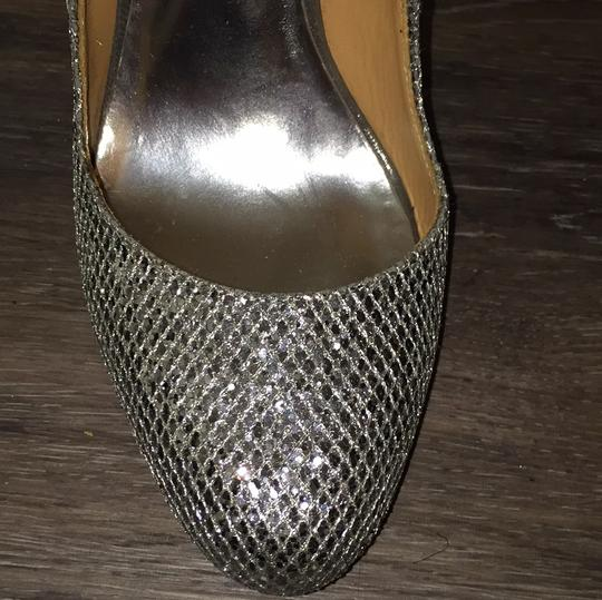 Badgley Mischka Silver sparkly Formal