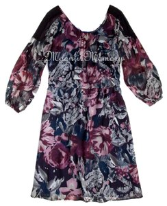 Sundance Silk Chiffon Blouson Dress