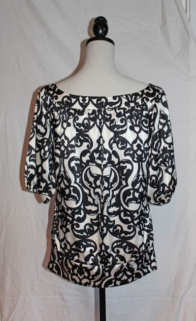 White House | Black Market Top Black and Cream