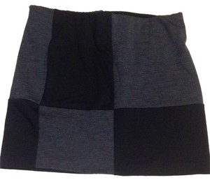 Forever 21 Checkered Black Grey Mini 21 Mini Skirt