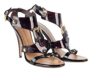 Giuseppe Zanotti Heels Shell Gold Buckle Strappy Tortoise Pumps