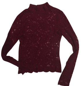 Urban Outfitters Lace Fall Winter Top Maroon