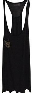 Michael Stars Pocket One Size Girly Fun Daytime Night Time Dancing Party Top black