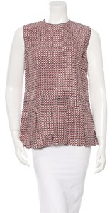 Marni Designer Pleated Boxy Career Top Multicolor