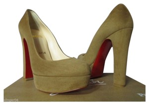 Christian Louboutin Camel Pumps