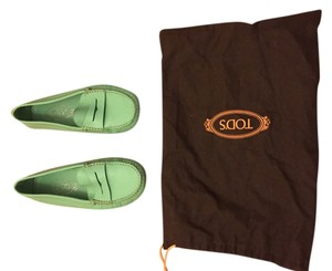 Tod's Leather Mint Flats