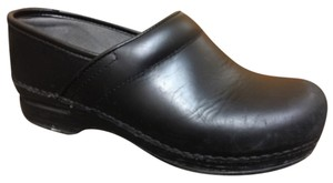 Dansko Black Cabrio Leather Mules