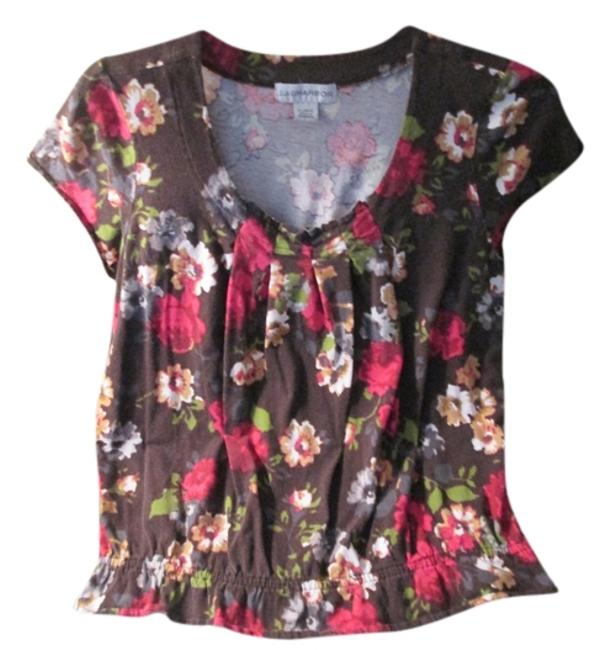 Preload https://img-static.tradesy.com/item/6248155/sag-harbor-brown-new-nwot-with-flowers-blouse-size-16-xl-plus-0x-0-0-650-650.jpg