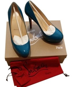 Christian Louboutin Bianca Teal Pumps