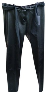 Maeva Made In Italy Shinny Skinny Pants black