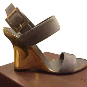 Louis Vuitton Wedges New Gray Sandals