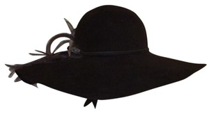 "Eugenia Kim ""Honey"" Wide Brimmed Hat With Ostrich Feather And Horn"