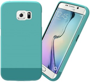 Stalion Stalion Teal Galaxy S6 EDGE Protective Hard Premium Coated Non Slip Texture Case