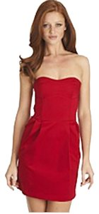 Aqua short dress red Sweetheart on Tradesy