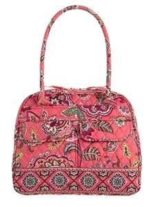 Vera Bradley Callmecoral Quilted Satchel in Call Me Coral