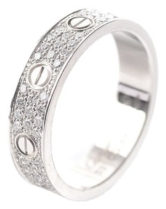 Cartier Cartier 18K White Gold Diamond-Paved Mini Love Ring #53