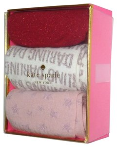 Kate Spade NEW KATE SPADE 3 Pair Assorted Glittering Trouser Socks Box set One size fits all