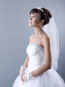Two Tier Wedding Veil Elbow Blusher White