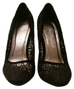 Jeffrey Campbell Stiletto Lace Fall Formal black lace Pumps