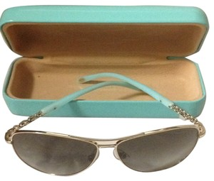 Other Authentic TIFFANY & CO. Polarized Locks Aviator Sunglass in Pale Gold
