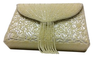 Elegance by Carbonneau Deco Beaded Ivory Clutch