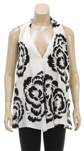 Roberto Cavalli Top Cream/Black
